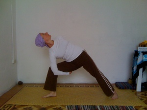 Mother Parama in Bound Side Angle Pose