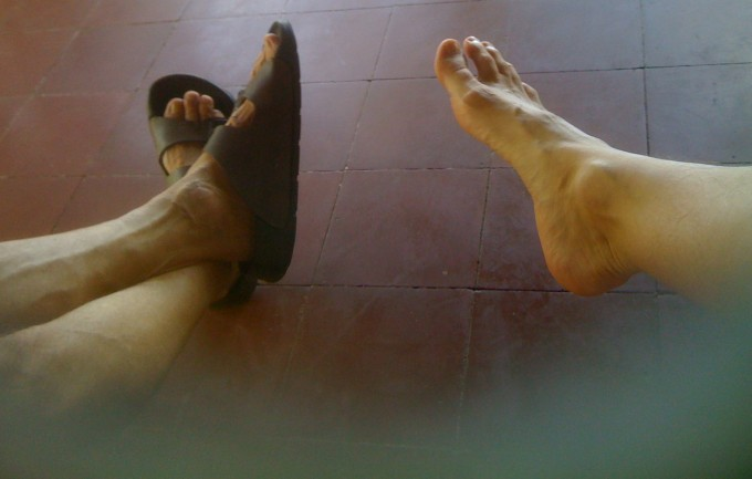 feet together