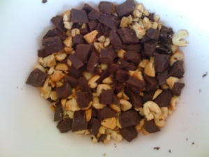 chocolate and cashews