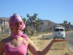 holding up VW bus