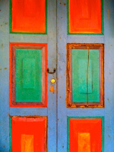 door colorful copy